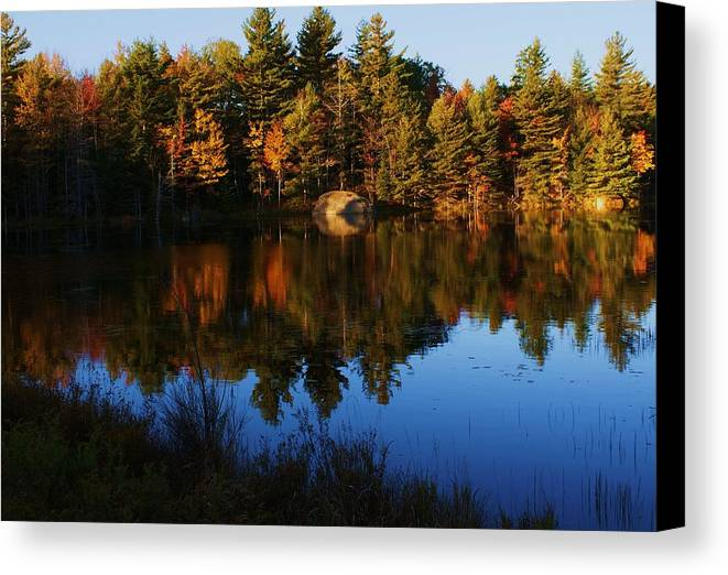 Fall Canvas Print featuring the photograph Reflection by Lois Lepisto