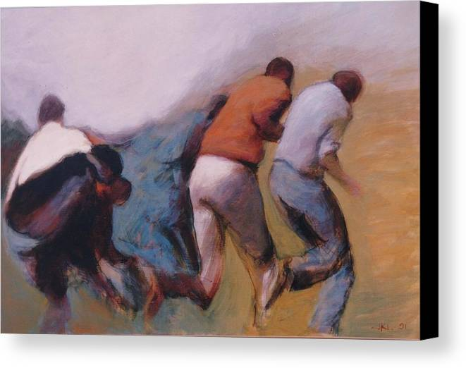 Apartheid Canvas Print featuring the painting S African Series II by James LeGros