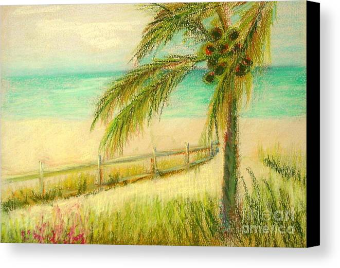 Landscape Canvas Print featuring the painting Sanibel Breeze      Copyrighted by Kathleen Hoekstra