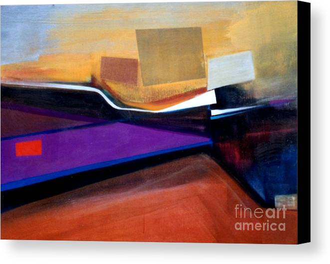 Abstract Canvas Print featuring the painting Santa Fe 2 Let Loose by Marlene Burns
