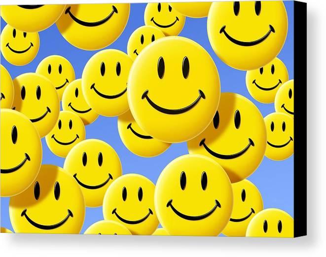 Smiley Face Symbols Canvas Print Canvas Art By Detlev Van Ravenswaay