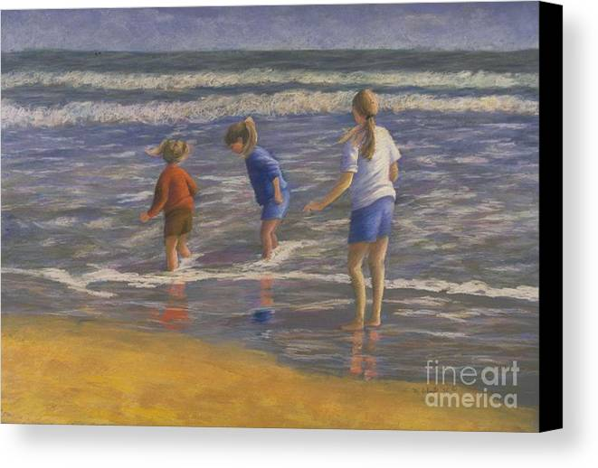 Beach Canvas Print featuring the painting Song Of Praise by Mary Erbert
