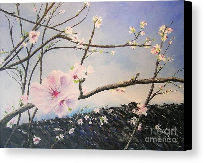Flower Canvas Print featuring the painting Spring Is In The Air by Lizzy Forrester