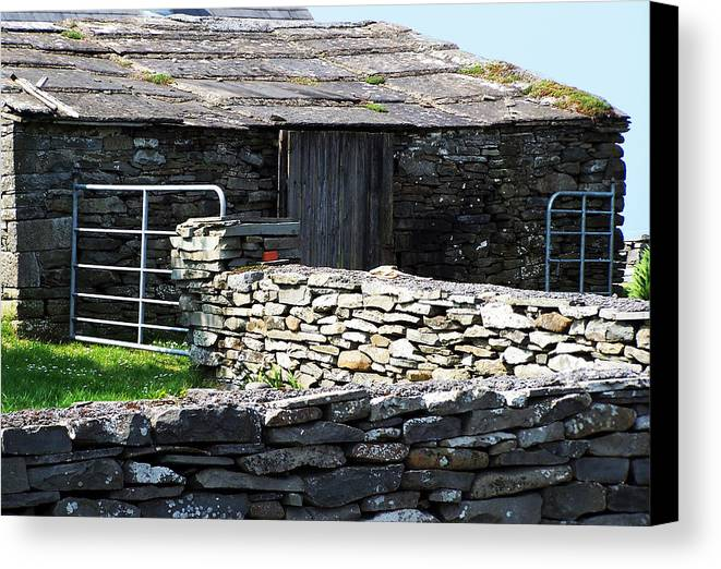 Irish Canvas Print featuring the photograph Stone Barn Doolin Ireland by Teresa Mucha