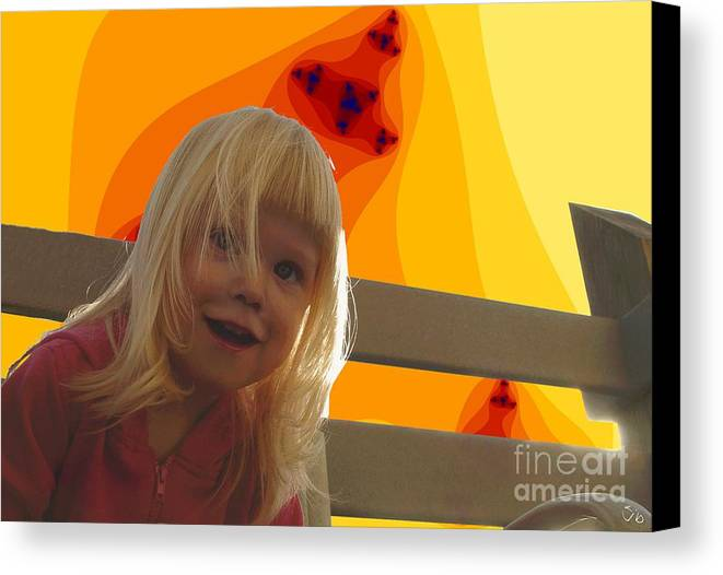 Happy Face Canvas Print featuring the photograph Sunshine Makes Me Happy by Ron Bissett
