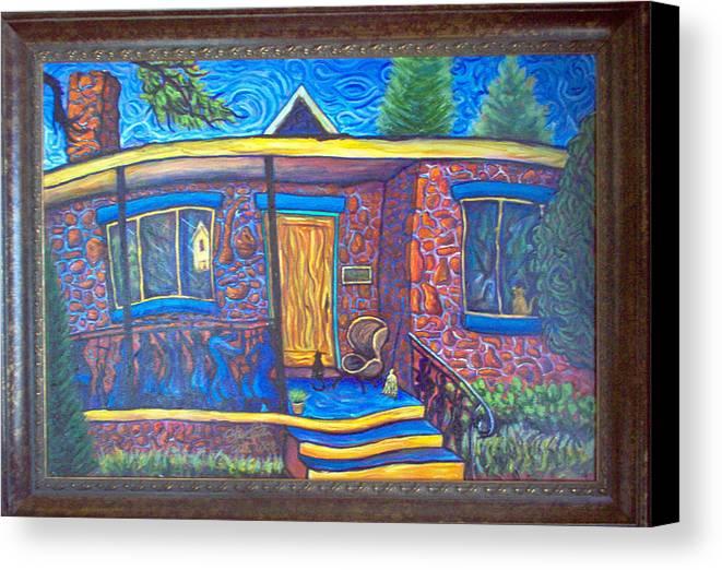 Landscape Canvas Print featuring the painting Susan's House 2 by Steve Lawton