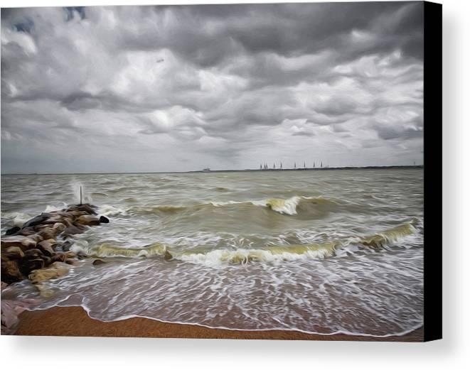 Sylvan Park Beach Canvas Print featuring the photograph Sylvan Park Beach by Steven Michael