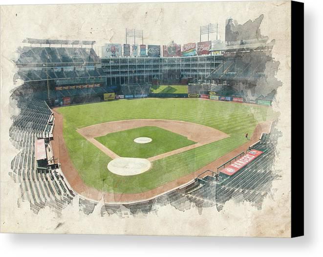 Texas Canvas Print featuring the photograph The Ballpark by Ricky Barnard