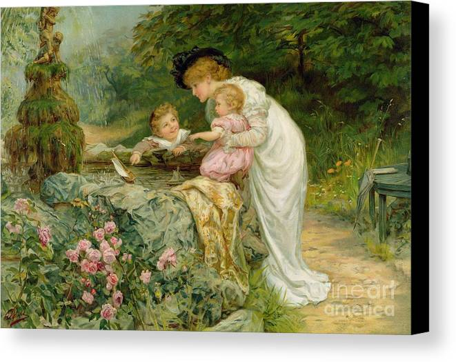 Quaint Canvas Print featuring the painting The Coming Nelson by Frederick Morgan