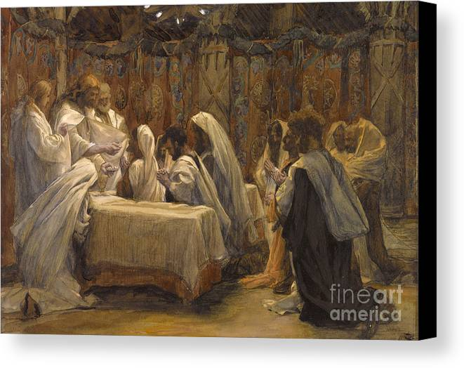 Tissot Canvas Print featuring the painting The Communion Of The Apostles by Tissot
