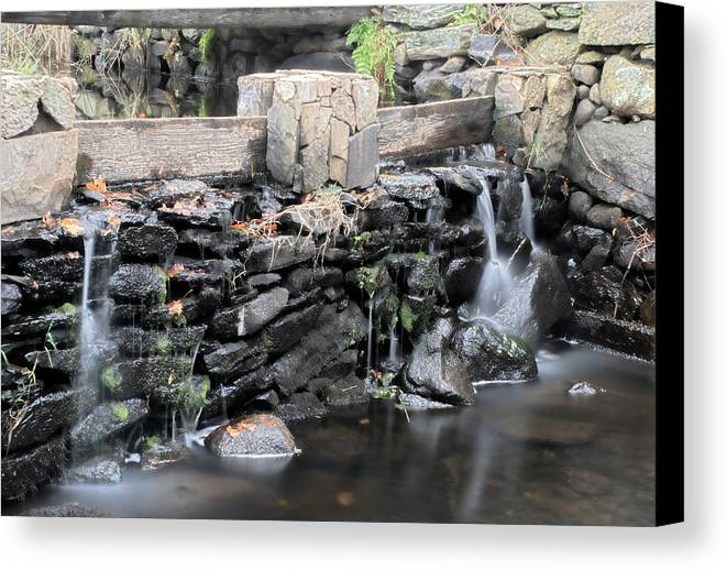 Stream Canvas Print featuring the photograph The Spillway by Mark Wiley