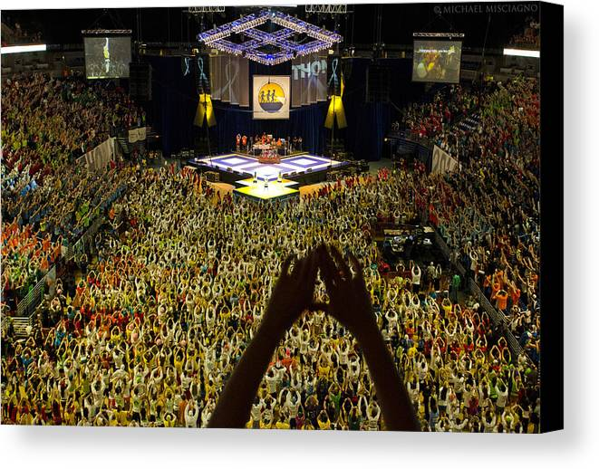 Thon Canvas Print featuring the photograph Thon Diamonds Up by Michael Misciagno