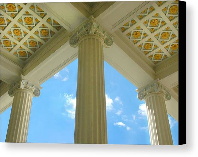 Archetecture Canvas Print featuring the photograph Three Columns by Dan Holm