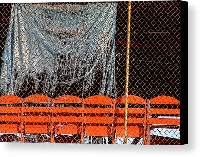 Baseball Field Canvas Print featuring the photograph Traveler Field Forgotten by Kenna Westerman