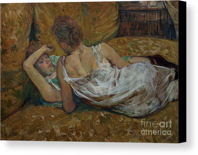 Two Canvas Print featuring the painting Two Friends by Henri de Toulouse-Lautrec