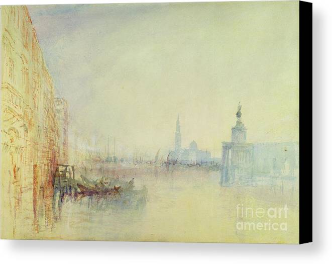 Venice Canvas Print featuring the painting Venice - The Mouth Of The Grand Canal by Joseph Mallord William Turner