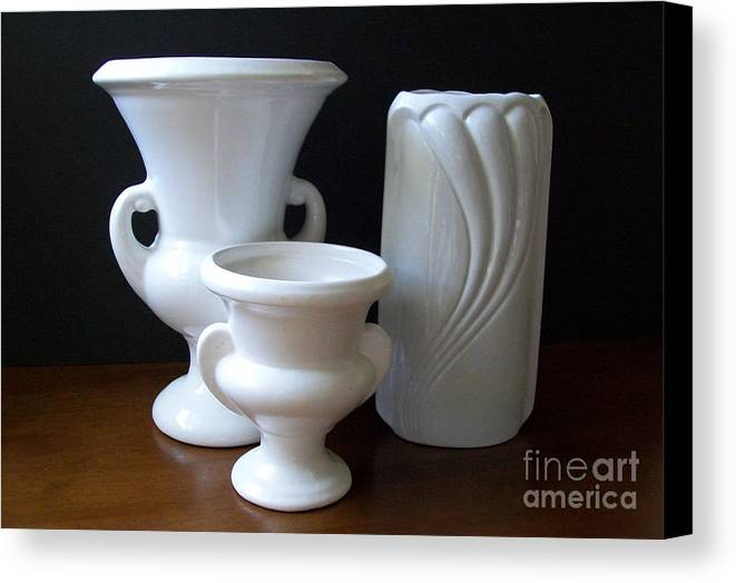 Ceramics Canvas Print featuring the photograph Vintage Collection by Marsha Heiken