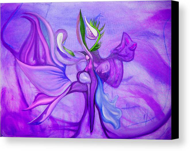 Woman Canvas Print featuring the painting Virtue Of Women by MandyCka Johnson