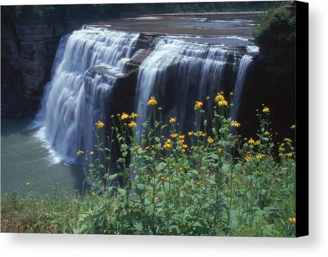 Waterfalls Canvas Print featuring the photograph Water Falls by Raju Alagawadi