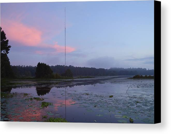 Rd Erickson Canvas Print featuring the photograph Water Path To The Fishing Hole by rd Erickson