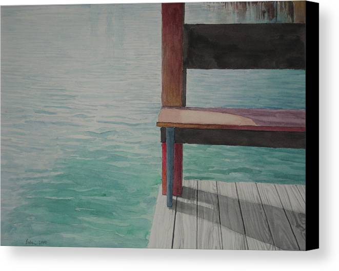 Waterscape Canvas Print featuring the drawing Water15 by Jeffrey Babine
