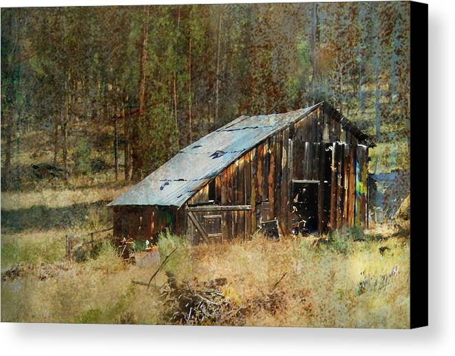 Barn Canvas Print featuring the photograph Yesteryear Shed 2 by Dale Stillman