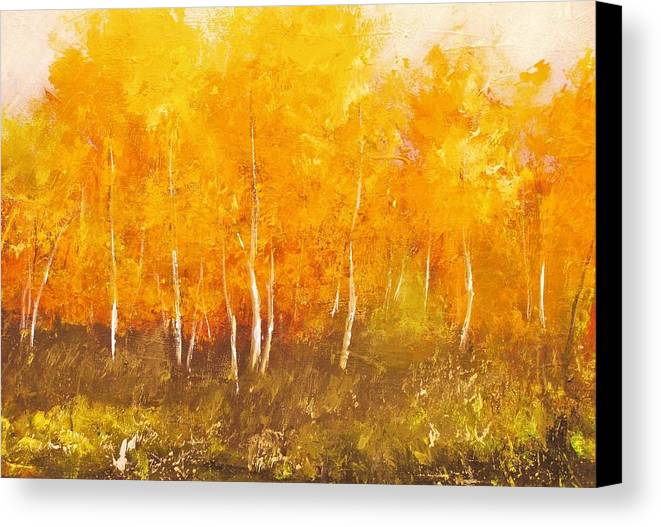 Cotemporay Art Canvas Print featuring the painting Zion Autumn by Anahid Minatsaghanian