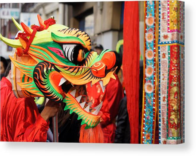 Celebration Canvas Print featuring the photograph Chinese New Year by Jolly Van der Velden