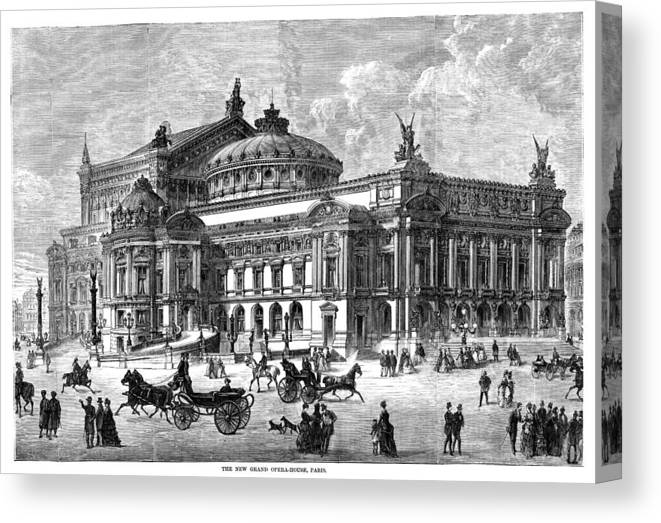 1875 Canvas Print featuring the painting Paris Opera House, 1875 by Granger