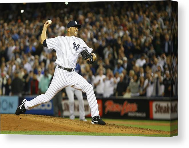 Ninth Inning Canvas Print featuring the photograph Tampa Bay Rays V New York Yankees 4 by Al Bello