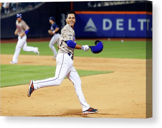 Celebration Canvas Print featuring the photograph Atlanta Braves V New York Mets 6 by Jim Mcisaac