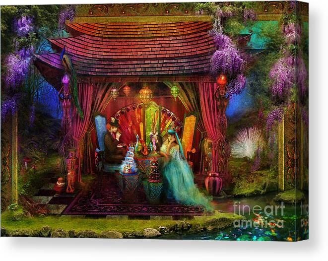Aimee Stewart Canvas Print featuring the photograph A Mad Tea Party by MGL Meiklejohn Graphics Licensing