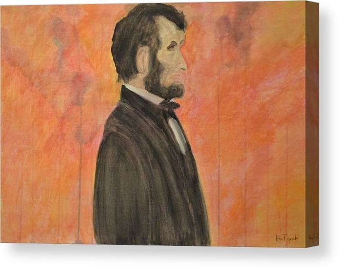President Canvas Print featuring the painting Abraham Lincoln by Ken Figurski