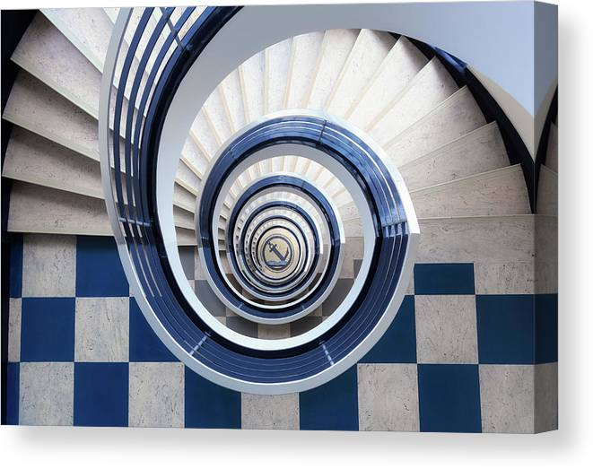 Stairs Canvas Print featuring the photograph Anchor by Max Zimmermann