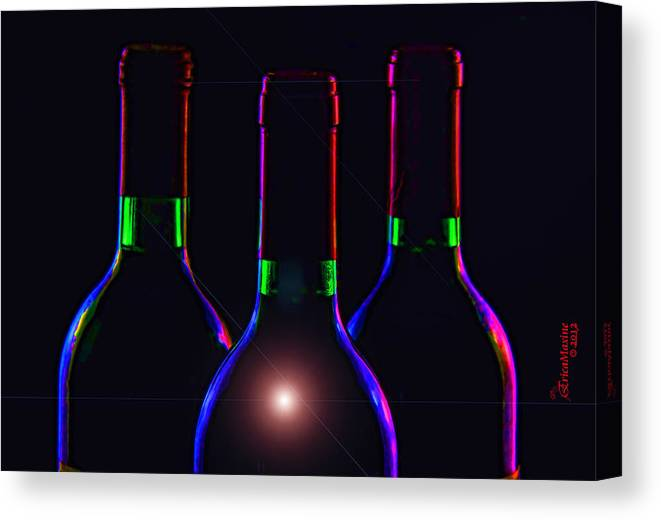 Bottle Canvas Print featuring the photograph Bottles by Ericamaxine Price