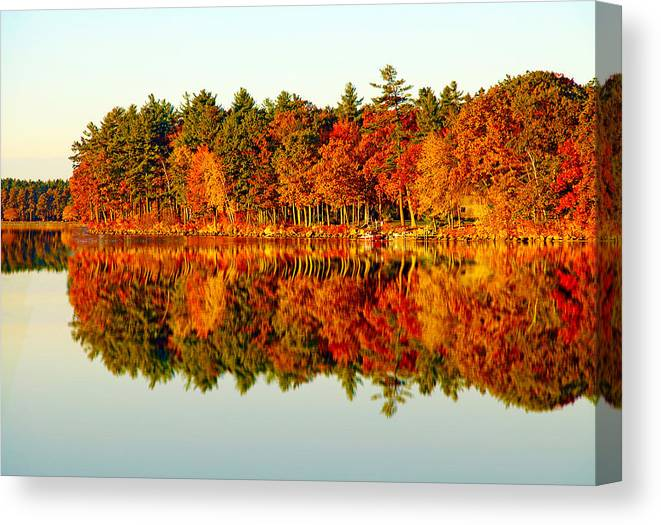 Fall Canvas Print featuring the photograph Fall Reflection by Evan Peller
