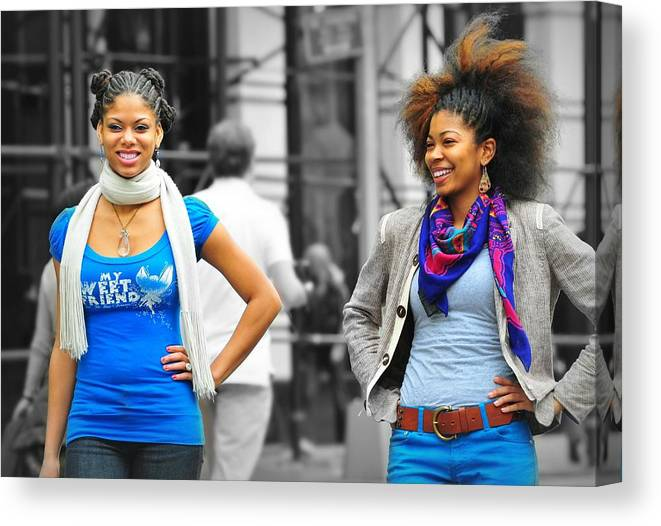 Models Canvas Print featuring the photograph Fashion Shoot by Diana Angstadt
