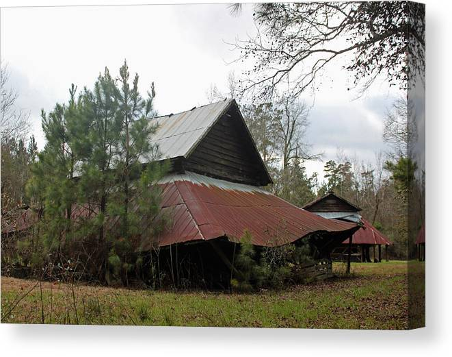 Photograph Canvas Print featuring the photograph Gaskins Family Barn Series II by Suzanne Gaff