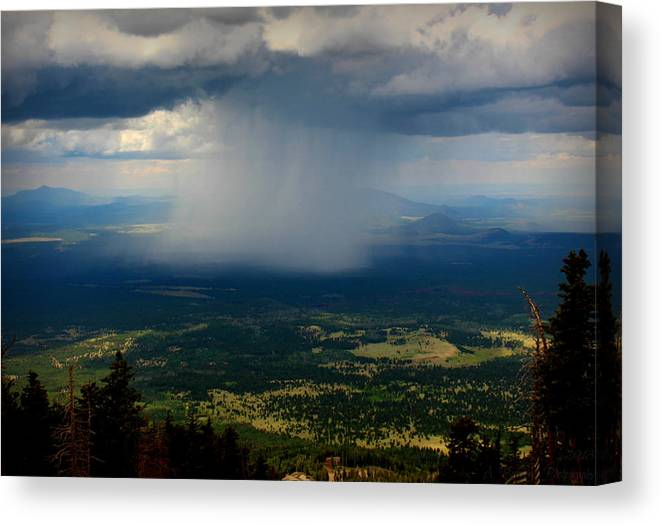 Flagstaff Canvas Print featuring the photograph High Country Monsoon by Aaron Burrows