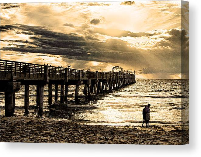 Beach Canvas Print featuring the photograph Morning Stroll by Don Durfee
