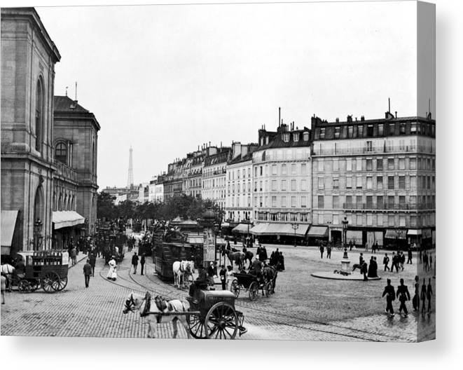 1890 Canvas Print featuring the photograph Paris Montparnasse, C1900 by Granger