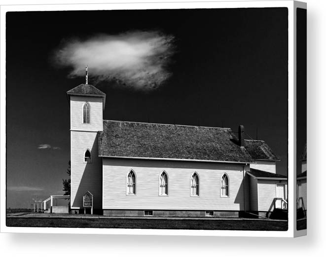 South Dakota Canvas Print featuring the photograph Pioneer Church by James Black