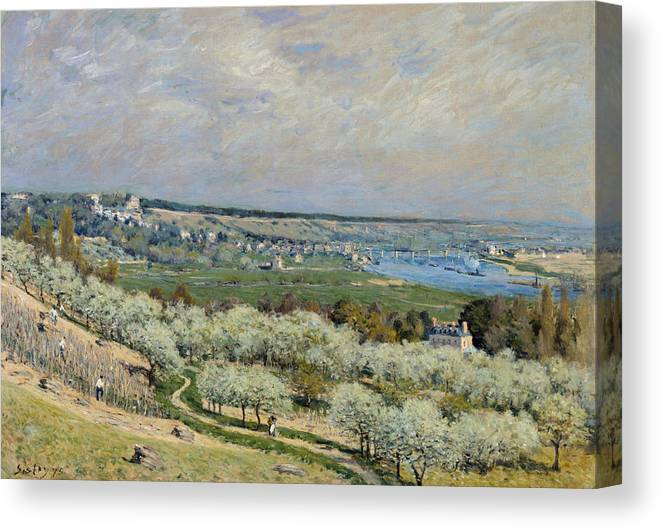 1875 Canvas Print featuring the painting Sisley Saint-germain, 1875 by Granger