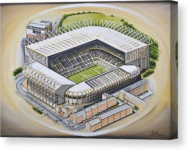 221516bf3 Art Canvas Print featuring the painting St James Park - Newcastle United by D  J Rogers