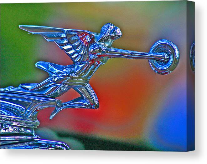 Packard Hood Ornament Canvas Print featuring the photograph The Goddess by Jean Noren