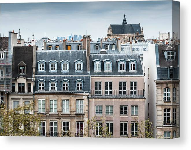 Built Structure Canvas Print featuring the photograph Traditional Buildings In Paris by Mmac72