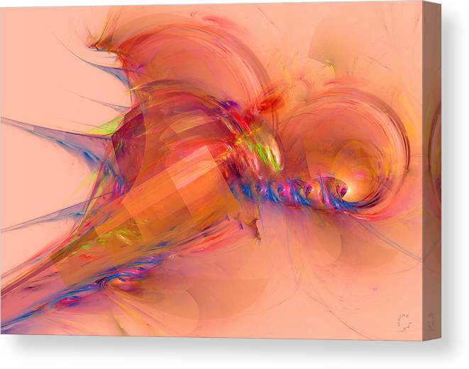 Abstract Art Canvas Print featuring the digital art 812 by Lar Matre