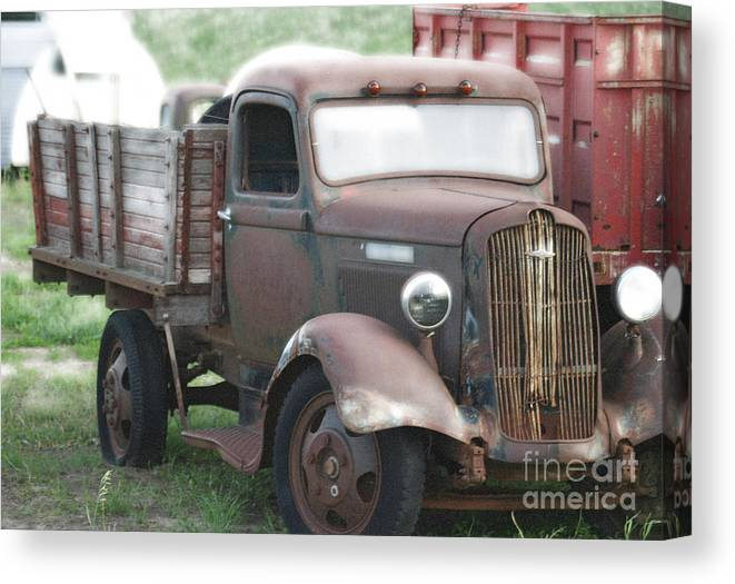 Old Trucks Canvas Print featuring the photograph A Hard Working Dodge Brother by Penny Ryan