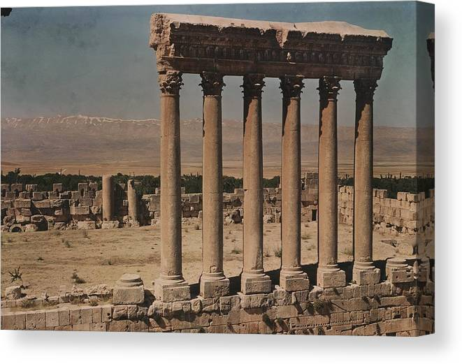 Day Canvas Print featuring the photograph A View Of More Ruins From The Columns by W. Robert Moore