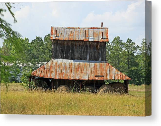 Tobacco Canvas Print featuring the photograph Clewis Family Tobacco Barn II by Suzanne Gaff
